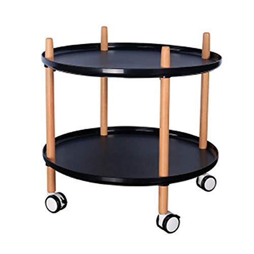 rentongye Nordic Dining Car, Home Living Room Coffee Table Almacenamiento Multifuncional Rack de Cocina, Carro Multicolor,...