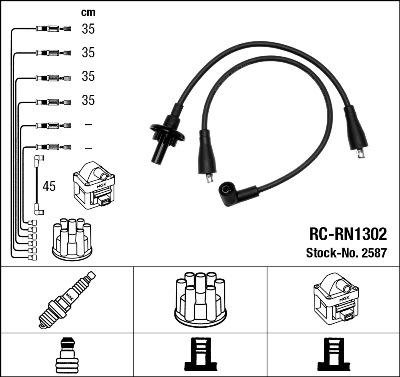 NGK 2587 Juego de cables de encendido