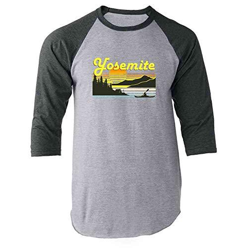 Retro Jersey 1970 (Pop Threads Yosemite Retro Travel Gray 3XL Raglan Baseball Tee Shirt)