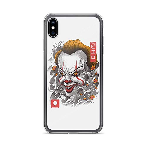 (iPhone Xs Max Pure Clear Case Cases Cover Oni Clown Mask Sumie Japanese Art)
