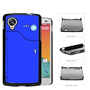 Pokedex Pocket Monsters Blue Hard Plastic Snap On Cell Phone Case LG Nexus 5