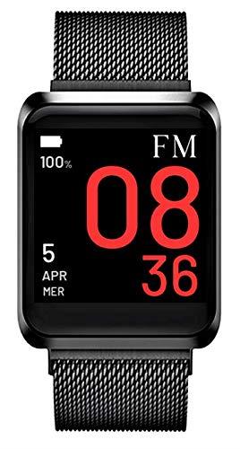 Florence Marlen Smartwatch Hombre-Mujer FM1S Napoli Correa de Malla de Acero Inoxidable | Bluetooth Pantalla táctil Impermeable| Cardiofrecuencímetro, ...