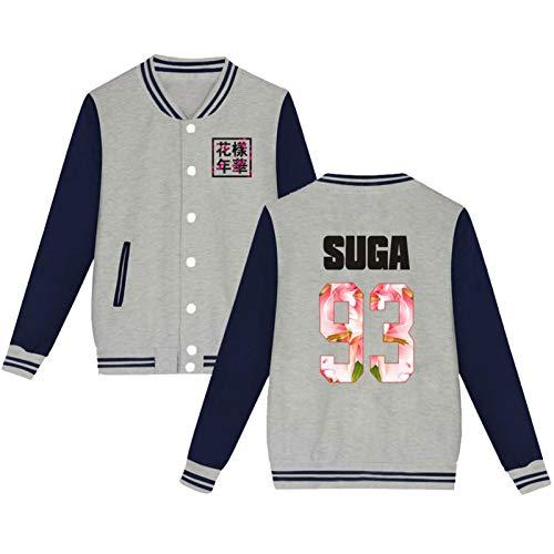 Kpop Team Baseball Jacket Uniform Suga Jin Jimin Jung Kook Sweater Coat Merch