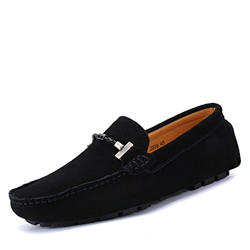 Scarpe Mocassini Mocassini on alla Nero da taglia 11 Flat Shoes guida pelle Fashion Fino da vera pelle Handwork Isbxn MUS uomo in Suture scamosciata Business Mocassini Slip da barca Ux7RxSqd