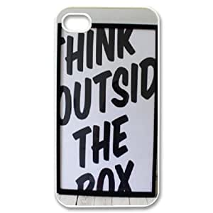Dustin Funny Quote IPhone 4/4s Cases Think Outside the Box, [White]