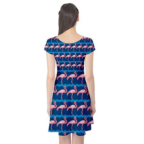 CowCow Dress Pattern Cap Pink Flamingo Sleeve Pink Elegance qga87qxwP