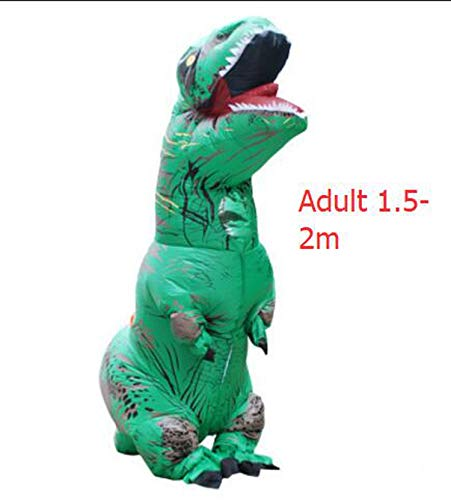 Dinosaur Suit Outfit Party Halloween Costume Adult,T-Rex Green Adult,One Size -