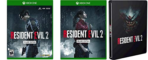 (Resident Evil 2 Remake Deluxe Edition XBOX ONE + Collector's Edition Steelbook USA 2019 Capcom)