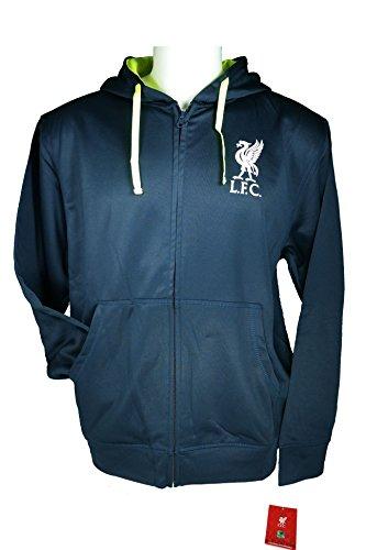 Liverpool F.C. Zipper Front Fleece Jacket Sweatshirt Official License Soccer Hoodie Medium 004 (Liverpool Jacket Fc)