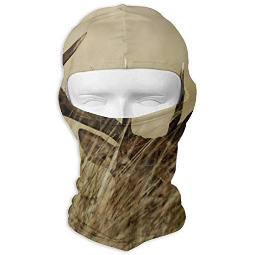 Leopoldson Deer Stag with Long Antler in The Bushes Balaclava UV Protection Windproof Ski Face Masks for Cycling Outdoor Sports Full Face Mask Breathable]()