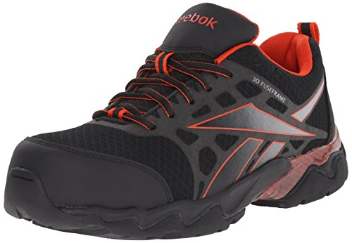 Oxfords Carolina Shoe (Reebok Work Men's Beamer RB1061 Work Shoe, Black/Red, 10.5 W US)