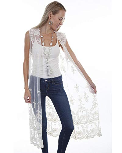 (Scully Women's Honey Creek by Ivory Lace Duster Ivory Medium )