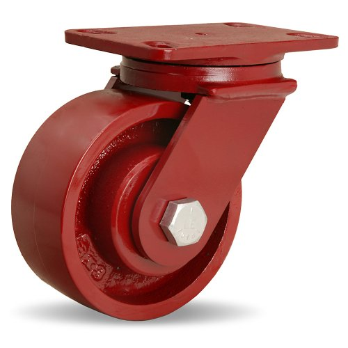Hamilton Forgemaster Casters - 6''Dia.X2.5''W Metal Wheel - 1'' Straight Roller Bearing - Swivel by Hamilton