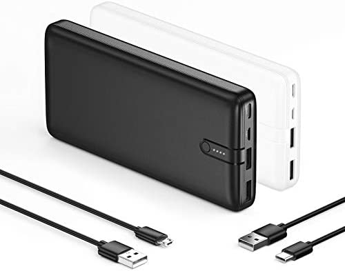 【2-Pack】 Portable Charger IEsafy 20000mAh, High-Speed Power Bank with USB C Dual Input, Fast Charging Outputs 20000mAh External Battery for iPhone Plus Samsung LG Google AirPods etc. [2020 Upgrade]