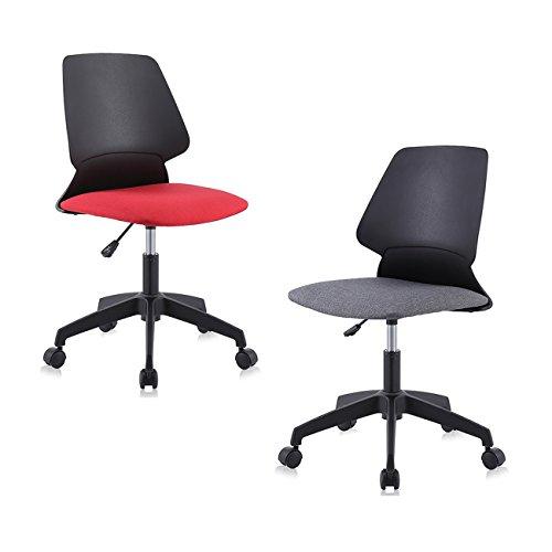 MY SIT Silla de oficina giratoria escritorio taburete altura ajustable sillon diseno silla Nuevo NEO in Negro/Gris
