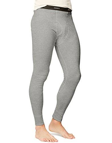 - Hanes Men's Big Red Label X-Temp Thermal Pant, Heather Grey, Medium