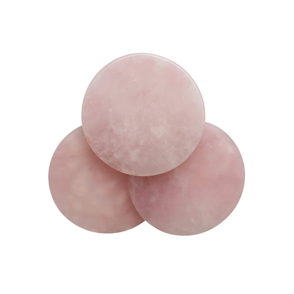 5pcs Pink Jade Stone for Glue Eyelash Extension Tool Round Lash Glue Pad Reusable Stand Holder