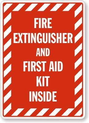 Amazon.com: Extintor y Kit de primeros auxilios en el ...