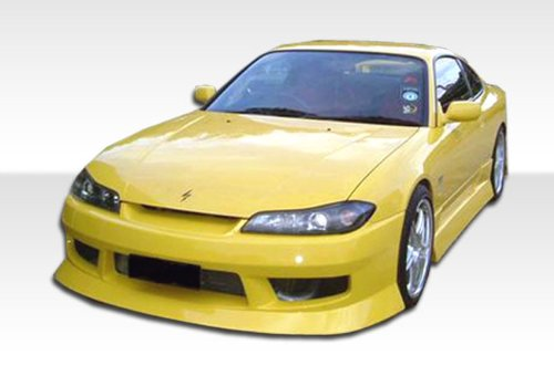 - 1995-1998 Nissan 240sx S15 Duraflex Type U Conversion- Includes Type U Front Bumper (103561), S15 OEM Fiberglass Hood (100889) , and S15 OEM Fenders (101643). - Duraflex Body Kits