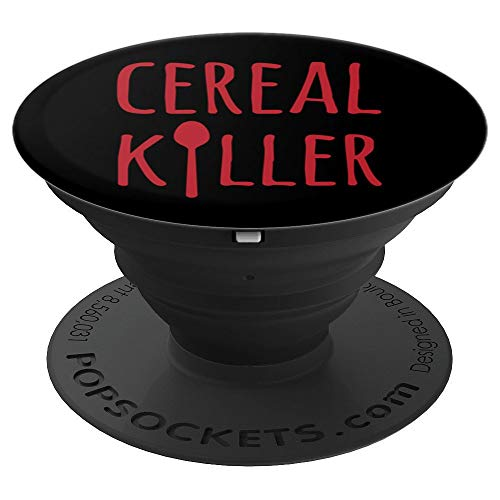 Cereal Killer Funny Breakfast Fan - PopSockets Grip and Stand for Phones and Tablets