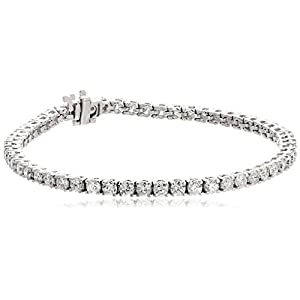 14k White Gold IGI Certified Diamond Tennis Bracelet (5cttw, I-J Color)