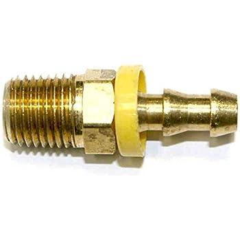 "Push-N-Lock Hose Barb 1//4/"" Barb x 1//4/"" MPT"