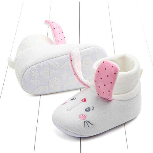 Xshuai Schöne Neugeborene Kleinkind Erste Wanderer Baby rutschfeste runde Kappe Wohnungen weiche Hausschuhe Schuhe Rosa