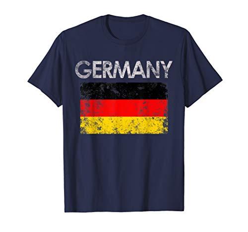 Vintage Germany German Flag Pride Gift T-Shirt