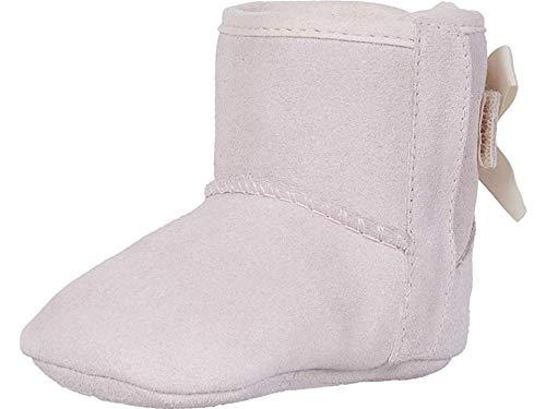 UGG Girls' Baby Jesse Bow II & Beanie Gift Set Crib Shoe, Pink, 04/05 M US Infant by UGG
