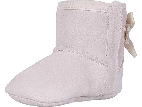 UGG Girls' Baby Jesse Bow II & Beanie Gift Set Crib Shoe, Pink, 02/03 M US Infant (Pink Bows Uggs)