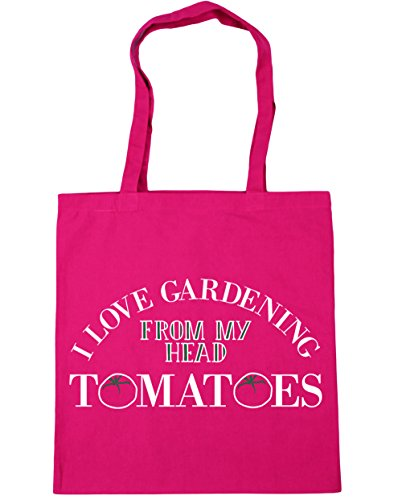 Tomatoes Gardening Beach litres My Bag Shopping Head 10 Tote Love HippoWarehouse From 42cm Gym x38cm Fuchsia I YAqHWEw