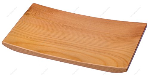 M.V. Trading WST84NC Wooden Nigiri Sushi Geta Plate Tray and Serving Board, 8