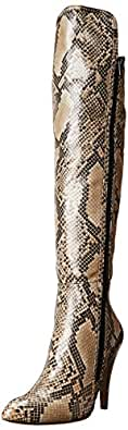 MIA Women's Anastacia Snow Boot,Beige Multi Snake,6 M US