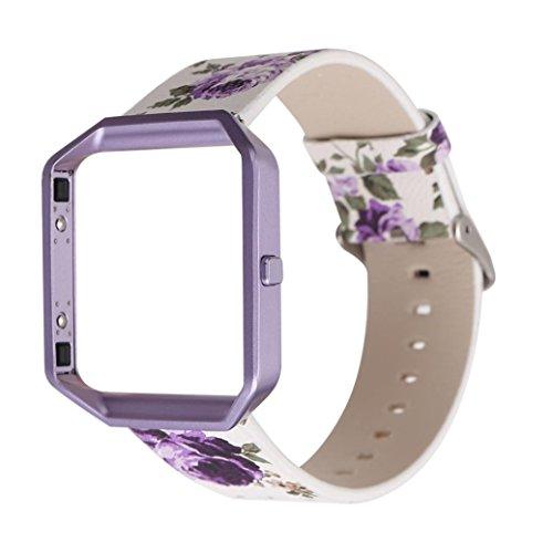 Fork Compression Adjuster Tool - Sinfu® For Fitbit Blaze Floral Leather Strap Replacement WatchBand Frame Holder Shell (D)