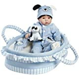 Paradise Galleries Reborn Baby Boy Doll Finn & Sparky, 9-Piece Gift Set, 17 inch Doll in GentleTouch Vinyl & Weighted Body, Safety Tested for Age 3+