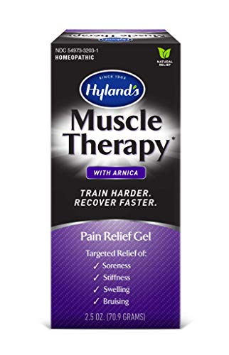Hyland's Muscle Therapy Gel with Arnica, Natural Relief of Swelling, Bruising, Soreness, Stiffness, 2.5 oz