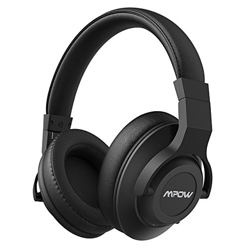 Mpow H12 Active Noise Cancelling Bluetooth Headphones, ANC Over Ear Headphones w/Mic, Comfortable Foldable Stereo Headphones Wireless& Wired PC/Cell Phones/TV