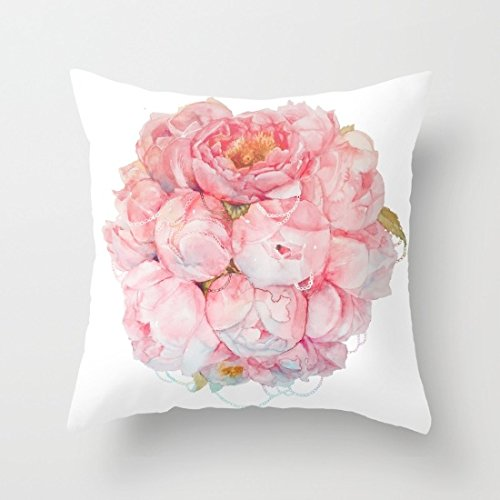 "Price comparison product image Sofapartner Tender bouquet Print Square Throw Pillow Covers 18""x 18"""