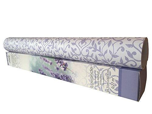 8 SHEETS Scented Drawer & Shelf Liners - Lavender Fragranced Drawer