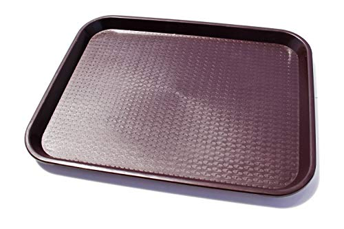 New Star Foodservice 24753 Fast Food Tray, 14 by 18-Inch, Brown, Set of 12