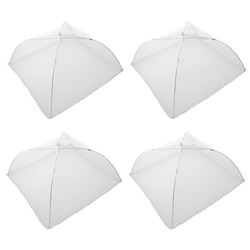 Platter Cover - Zicome 4 Pack Pop-up Mesh Food Cover Tent, Reusable and Collapsible, Keep Out Flies, Bugs, Mosquito (17