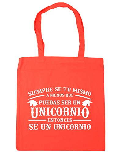 Hippowarehouse Always Be Yourself Unless You Can Be A Unicorn Then A Unicorn Beach Bag With Handles Shopping Bag 42cm X 38cm For Gym Coral 10 Liters Capacity