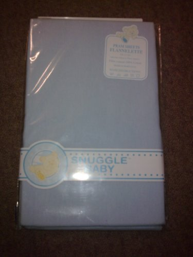100% COTTON FLANNELETTE SHEETS (2) BLUE FIT CRIB / CRADLE by Snuggle Baby