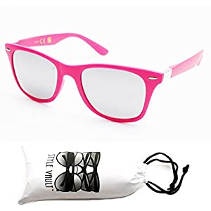 W1324-vp Style Vault GENERIC 80s Sunglasses (15MM Pink/silver-mirror, mirrored)