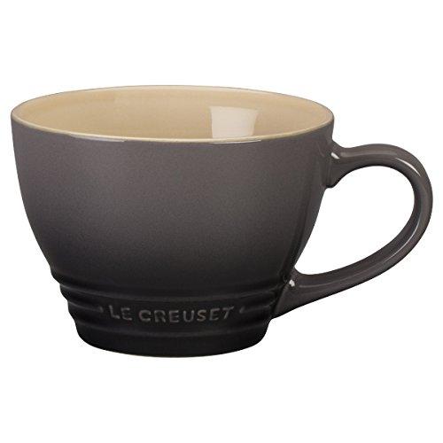 Le Creuset Stoneware Bistro Mug, 14 oz, Oyster (Mug Bistro Stoneware)