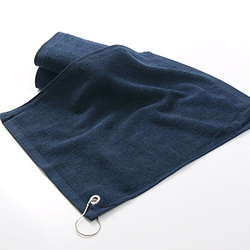 Golf Towel 1pcs 100% Cotton Size 3240cm with metal hook washcloth Golf accessories 3 colour (Accessory Metal Hooks)