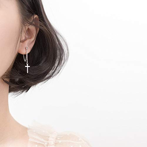 HCBYJ earring S925 Sterling Silver Sterling Silver Chain Stud Earrings Female Models Womens fine Jewelry