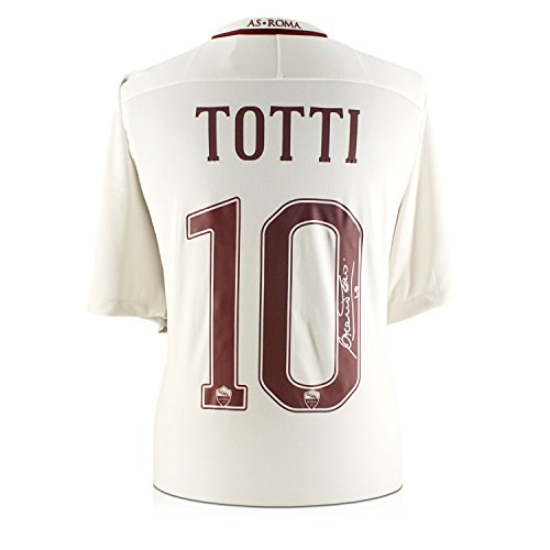 (Francesco Totti Signed AS Roma 2016-17 Away Jersey: The Final Season)