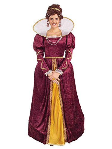Forum Queen Elizabeth Dress and Crown, Purple, One Size Costume -