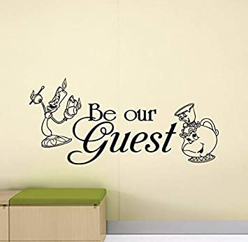 Amazon Com Be Our Guest Wall Decal Home Sign Beauty And The Beast
